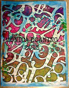 My Gelli Prints <3