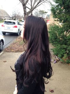 brownish black cherry hair