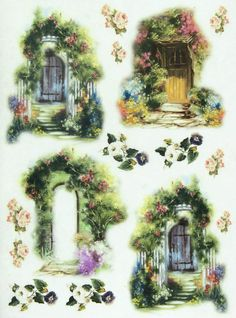 Ricepaper / Decoupage paper, Scrapbooking Sheets Cottage 2