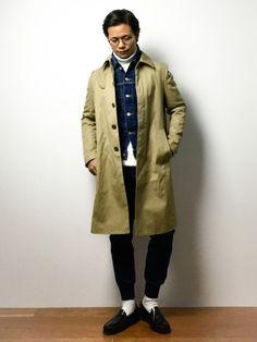 UNITED TOKYOのステンカラーコート「ギャバステンコート」を使ったK-1RO(ケーイチロー)(ZOZOTOWN)のコーディネートです。WEARはモデル・俳優・ショップスタッフなどの着こなしをチェックできるファッションコーディネートサイトです。