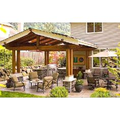 Thinking of creating a new patio in your backyard? Need a few backyard patio ideas? After a quick brainstorming session, we came up with these five backyard patio ideas that will surely please. Outside Living, Outdoor Living Areas, Outdoor Rooms, Outdoor Gardens, Living Spaces, Outdoor Dining, Rustic Outdoor, Dining Area, Living Rooms