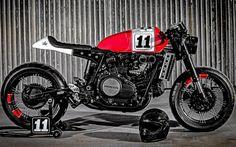 Honda VF Sabre 750 'Maxima#11' Cafe Racer by Lucky Custom