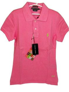 Ralph Lauren Women\u0026#39;s Skinny Fit Polo Shirt - Maui Pink - XL by Polo Ralph Lauren