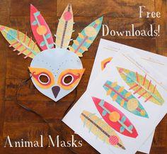 DIY Halloween DIY Costumes: DIY craft fun: peacock mask!