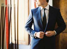 a blue suit
