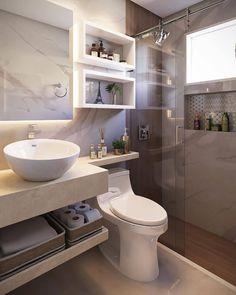 Home Room Design, Small Bathroom Interior, Bathroom Interior Design, Home, Modern Bathroom Design, Small Bathroom Decor, Bathroom Design Luxury, Bathroom Decor, Interior Design Bedroom