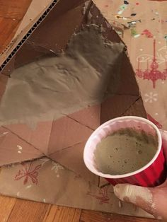 How pouring cement into cardboard makes your counters look designer