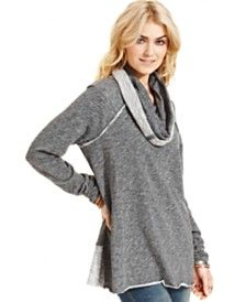 $68 - xl - Free People Cowl-Neck Sweater
