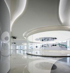 Corporate Interior Design, Corporate Interiors, Office Interiors, Zaha Hadid Architecture, Interior Architecture, Hotel Lobby Design, Tv Set Design, Hospital Design, Selling Design