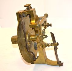 Antique Watchmakers Lathe Brass Gear Cutting Indexing Dividing Engine K827 | eBay
