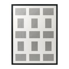 """RIBBA Frame for 15 pictures IKEA Holds 1 picture 23x31"""" or 9 pictures 4x6"""" and 6 pictures 3 1/2x5"""". $19.99"""