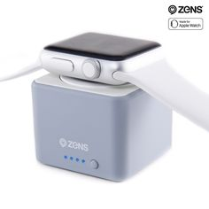 Apple Watch Charger Power Bank by ZENS - Pocket Sized Travel Friendly Charging Puck - Wireless Charge Your Apple Watch up to 3 Times - 1300 mAh - Apple MFi Certified - Gray Color * A special outdoor item just for you. See it now! : Travel Gadgets