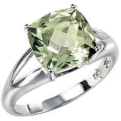 Green Amethyst right hand ring