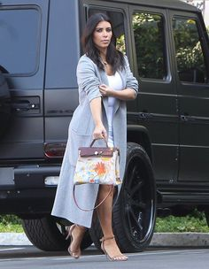 Pin for Later: 11 Times Kim Kardashian's Parenting Choices Made Our Jaws Drop When North painted her $20,000 Hermès bag for her mom's birthday. There aren't many of us who keep $20,000 handbags in our closets, and even fewer who would let our toddlers fingerpaint all over them!