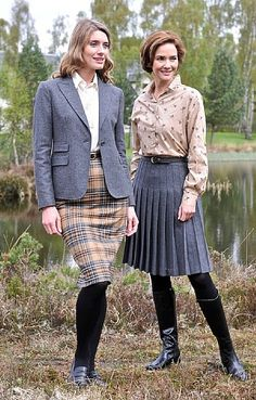 Classic Tweed Skirt in grey/camel, £79.95 from House of Bruar