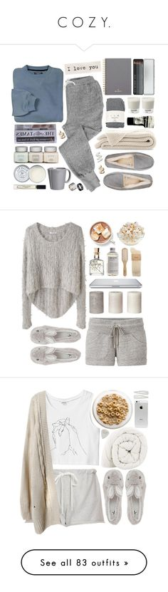 """""""C O Z Y."""" by lovefashioon ❤ liked on Polyvore featuring Just Acces, V::ROOM, UGG Australia, Mulberry, Caran D'Ache, Falke, Pantone, Aesop, Vietri and Jack Wills"""