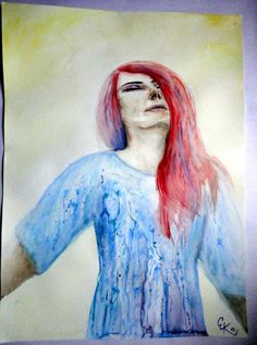 DREAMING Watercolor original portrait by ArtbyEfka on Etsy