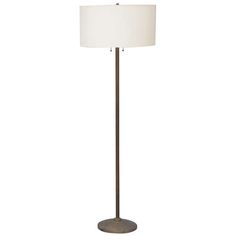 Elegant French Ribbed Brass Floor Lamp