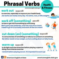 phrasal verbs related to health and fitness