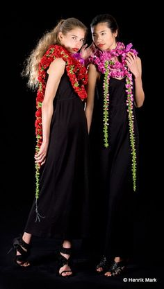 Cascading bridal flowers to wear by Stein Are Hansen of Norway