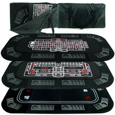 @Overstock.com - You'll feel like you're in Las Vegas when you bring out this handy folding poker table top that can accommodate up to eight players playing roulette, poker, or craps. The topper folds up for easy storage and has a carry bag so you can take it with you.http://www.overstock.com/Sports-Toys/Casino-3-in-1-Tri-fold-Poker-Craps-or-Roulette-Table/6152582/product.html?CID=214117 $61.99
