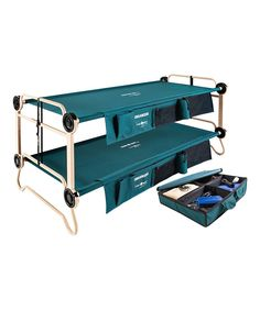 Extra-Large Cam-O-Bunk & Footlocker Set -- extra sturdy, portable bunk beds for visiting kids, for camping, etc.  Even makes into a couch.