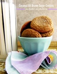 Coconut Oil Brown Sugar Cookies // take a megabite