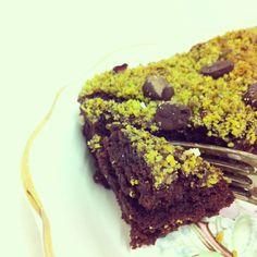 Pistachio Brownies. #vegan