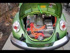 GO GREEN Electric VW Bug Rebirthauto 96Volt Kit #001 in car