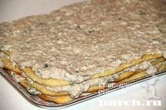 Закусочный рыбный торт Мимоза, zakuski buterbrody tosty sendvichi