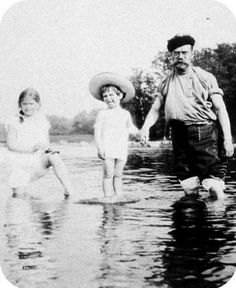 Tsar Nicholas II with Alexei and Maria.