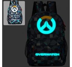 Overwatch Logo Backpack Glow in the dark Schoolbag Bookbag Camping Bag