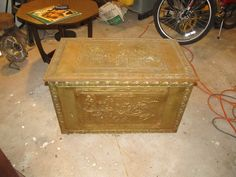 English brass coal box (or kindling)