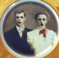Zombie Love Portrait de mariage altéré Vintage par BeatUpCreations Angela Rossi