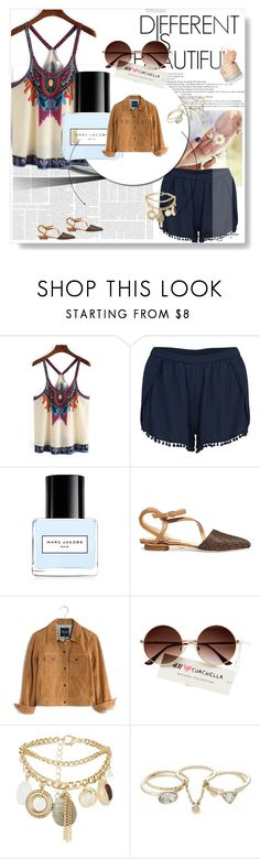 """""""Untitled #77"""" by theresagrace ❤ liked on Polyvore featuring VILA, Marc Jacobs, Chelsea Paris, Madewell, New Look and Lipsy"""