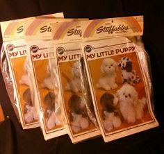 Vintage Zim's My Little Puppy Doll Pattern Uncut Sewing Fabric Kit U.S.A 1985
