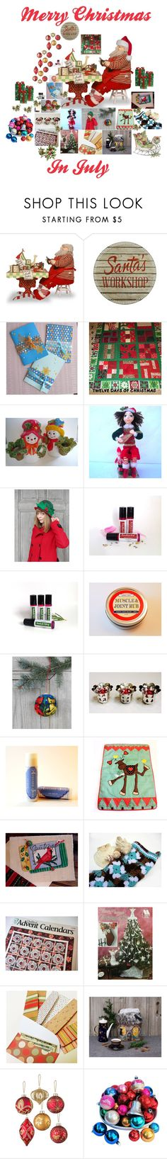 """Merry Christmas In July"" by patchworkcrafters ❤ liked on Polyvore featuring interior, interiors, interior design, home, home decor, interior decorating, National Tree Company, International Silver and Improvements"