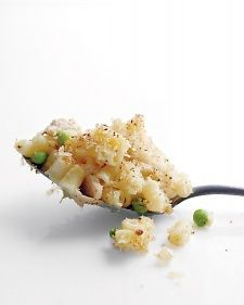 Tuna Casserole.   We cut the sauce with chicken broth, but there's enough milk to make this casserole feel indulgent.