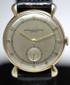 1939 Vacheron & Constantin 14K Solid Gold Vintage Watch, tear drop lugs, made for men