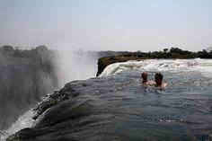 Victoria Falls, Africa! Ha ive already been there :) Beautiful place. Monkeys everywhere!