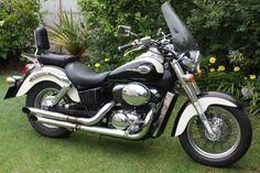 Black and White Honda Shadow Ace