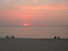 St Ives apartment rental - Sunset over the beach
