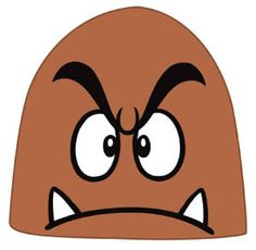 Goomba face - to draw on balloons