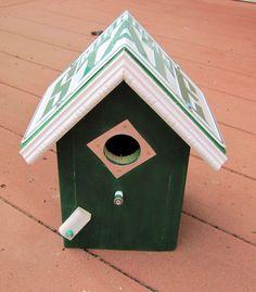 Michigan State Bird House - License Plate Collegiate Birdhouse - Bird House by FurTheBirds on Etsy