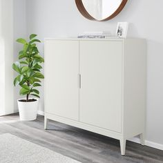 REGISSÖR Cabinet, white, 46 The attention to detail gives the furniture a distinct handcrafted character. Adjustable shelves can be arranged according to your needs. Armoire Ikea Ps, Ikea Ps Cabinet, Dining Cabinet, Ikea Cabinets, Storage Cabinets, Wall Cabinets, Media Cabinet, Cupboards, Kitchen Storage