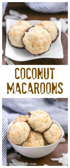Coconut Macaroons   Light and scrumptious with a crisp exterior and chewy middles! @lizzydo