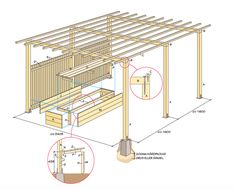 There are lots of pergola designs for you to choose from. You can choose the design based on various factors. First of all you have to decide where you are going to have your pergola and how much shade you want. Diy Pergola, Building A Pergola, Small Pergola, Modern Pergola, Pergola Canopy, Pergola Attached To House, Pergola Swing, Deck With Pergola, Outdoor Pergola