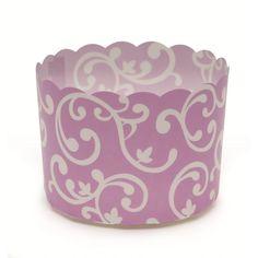 2.3Dia. x 1.8H Plastic Baking Cup Purple Vine/Case of 500 @Crowdz