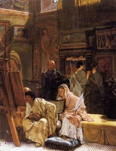 Sir Lawrence Alma-Tadema Paintings-The Picture Gallery, 1874