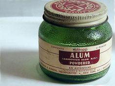 Vintage McKesson Powdered Alum Glass Jar advertising